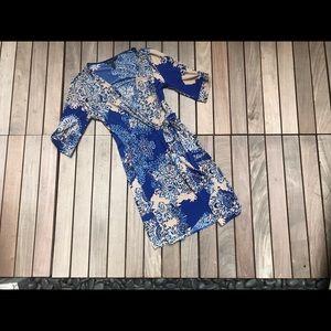 BCBG   Blue Floral Dress